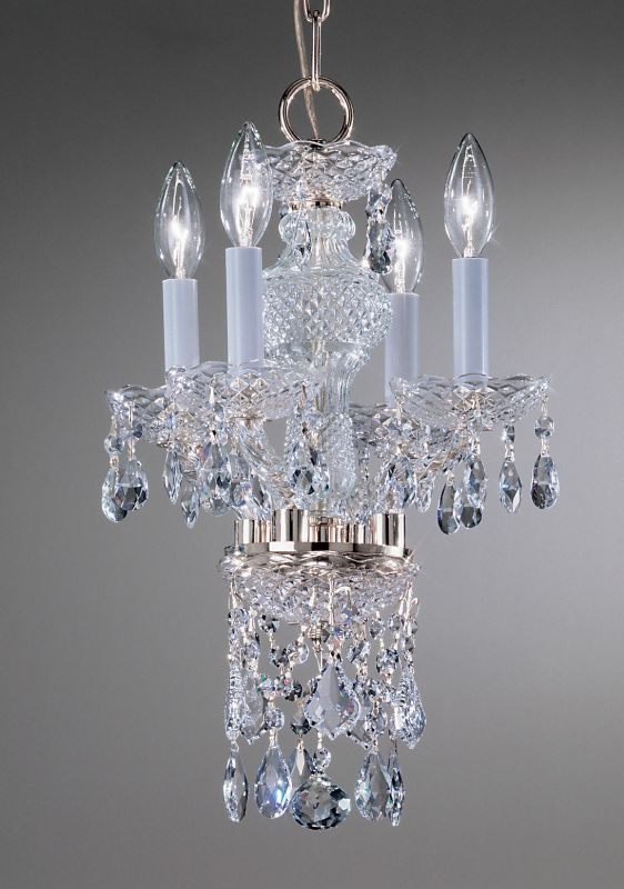 Classic Lighting 8254-CH 15&quote Crystal All Glass Mini-Chandelier from