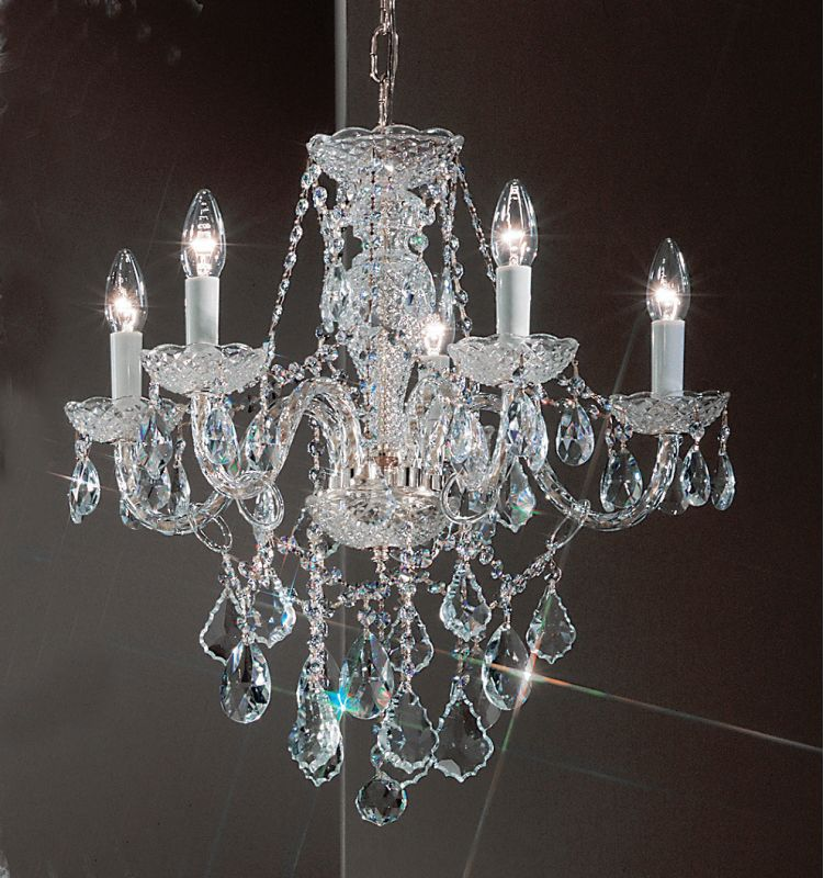 "Classic Lighting 8255-CH 21"" Crystal All Glass Chandelier from the"