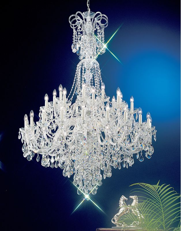 """Classic Lighting 8265-CH 72"""" Crystal All Glass Chandelier from the"""