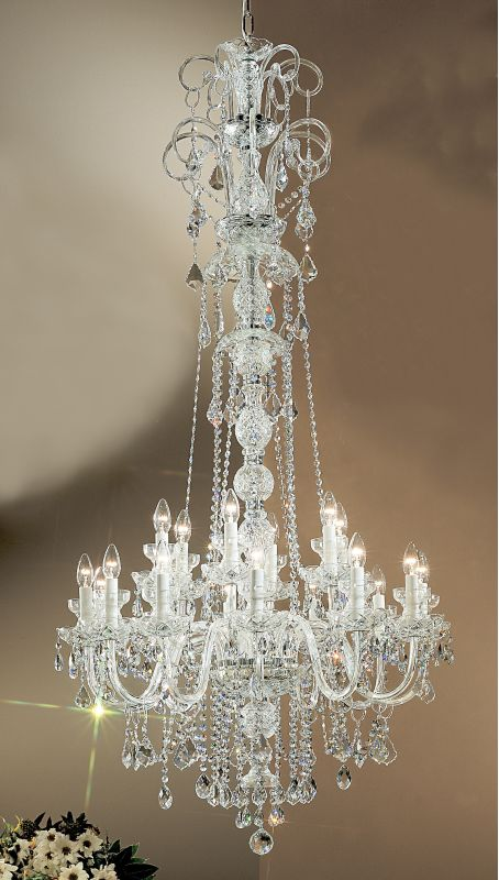 Classic Lighting 8270-CH 65&quote Crystal All Glass Chandelier from the