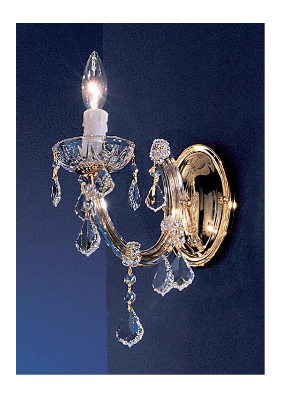"Classic Lighting 8341-GP 9"" Crystal Wallchiere from the Rialto"
