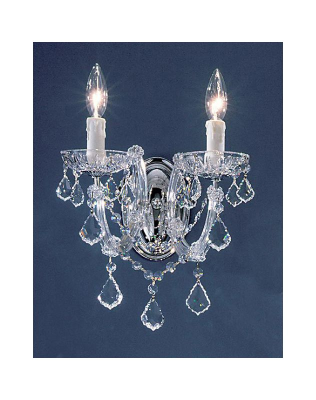 "Classic Lighting 8342-CH 10"" Crystal Wallchiere from the Rialto"
