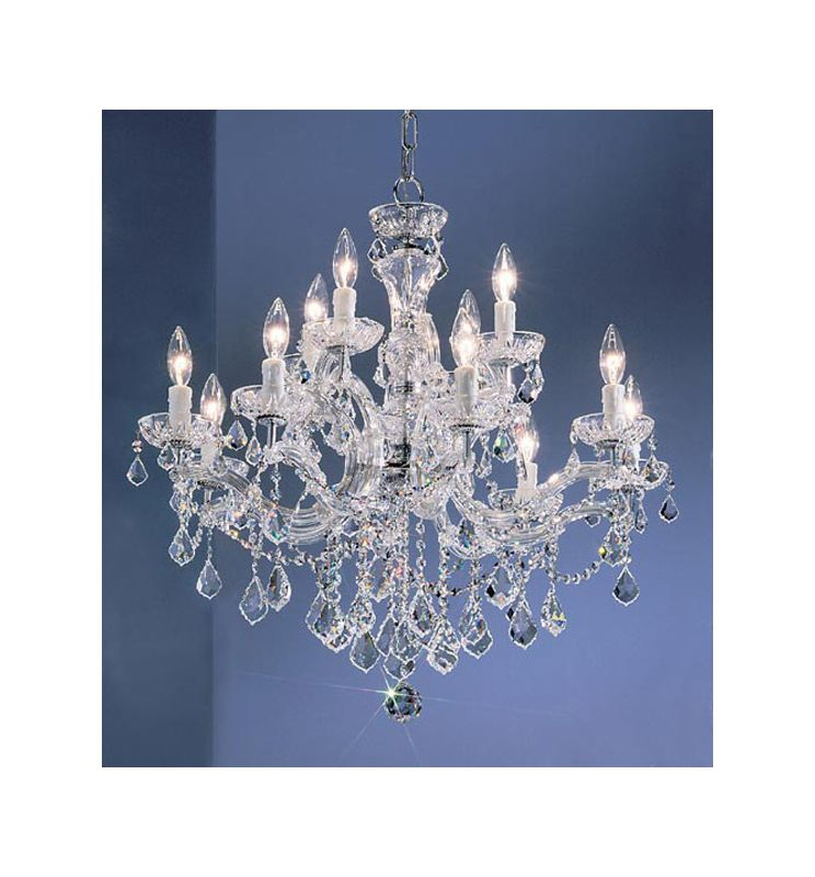 "Classic Lighting 8344-CH 27"" Crystal Chandelier from the Rialto"