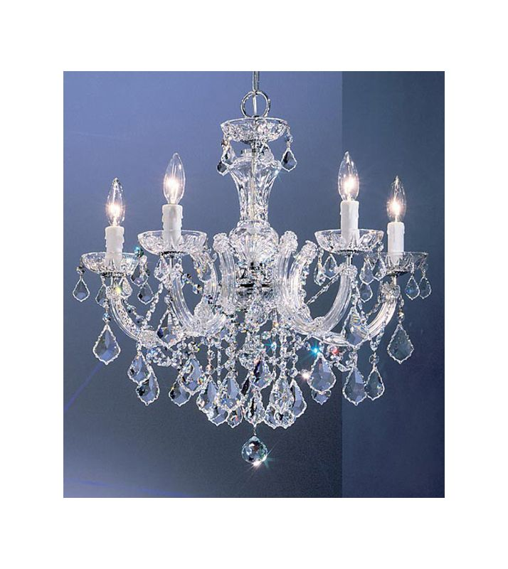 "Classic Lighting 8345-CH 23"" Crystal Chandelier from the Rialto"