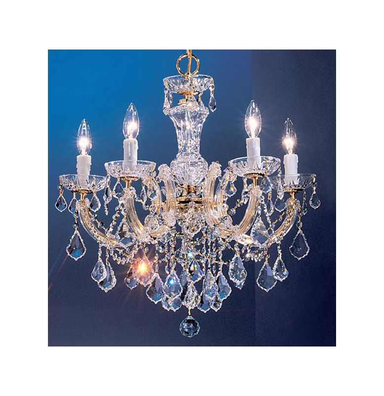 "Classic Lighting 8345-GP 23"" Crystal Chandelier from the Rialto"
