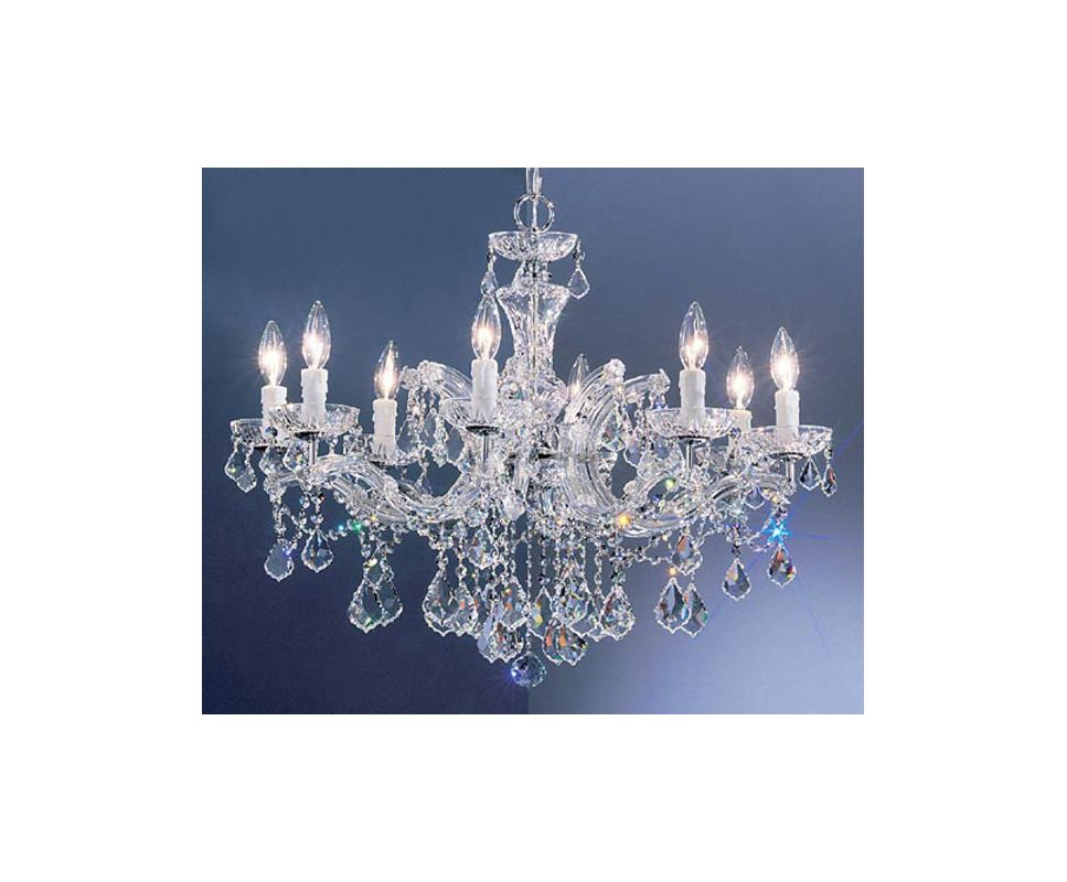 "Classic Lighting 8348-CH 21"" Crystal Chandelier from the Rialto"