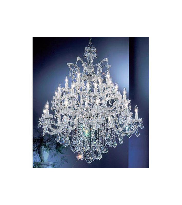 "Classic Lighting 8349-CH 42"" Crystal Chandelier from the Rialto"