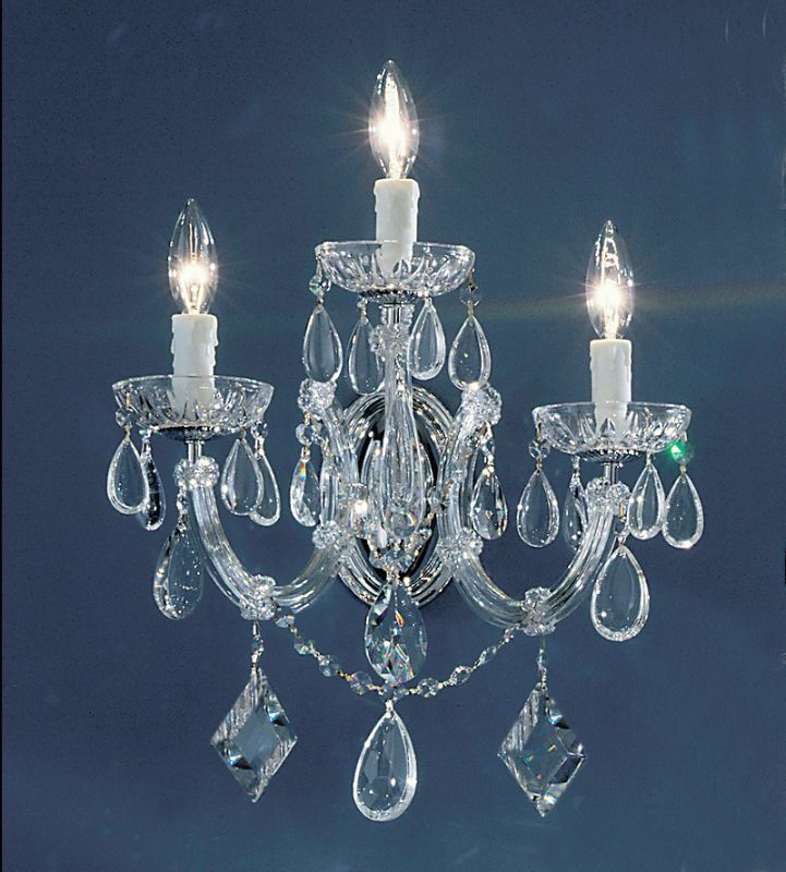 "Classic Lighting 8353-CH 18"" Crystal Wallchiere from the Rialto"