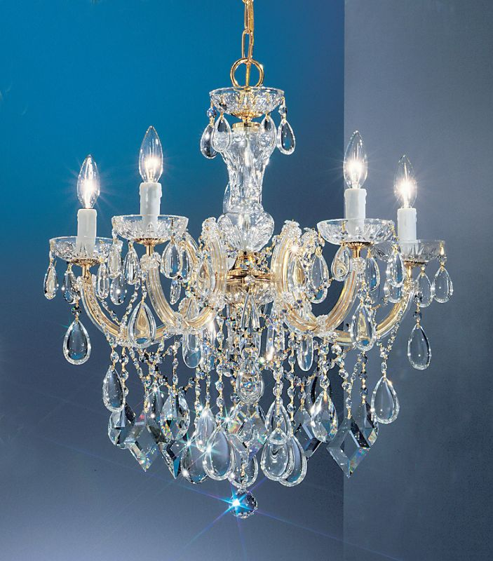 """Classic Lighting 8355-GP 24"""" Crystal Chandelier from the Rialto"""