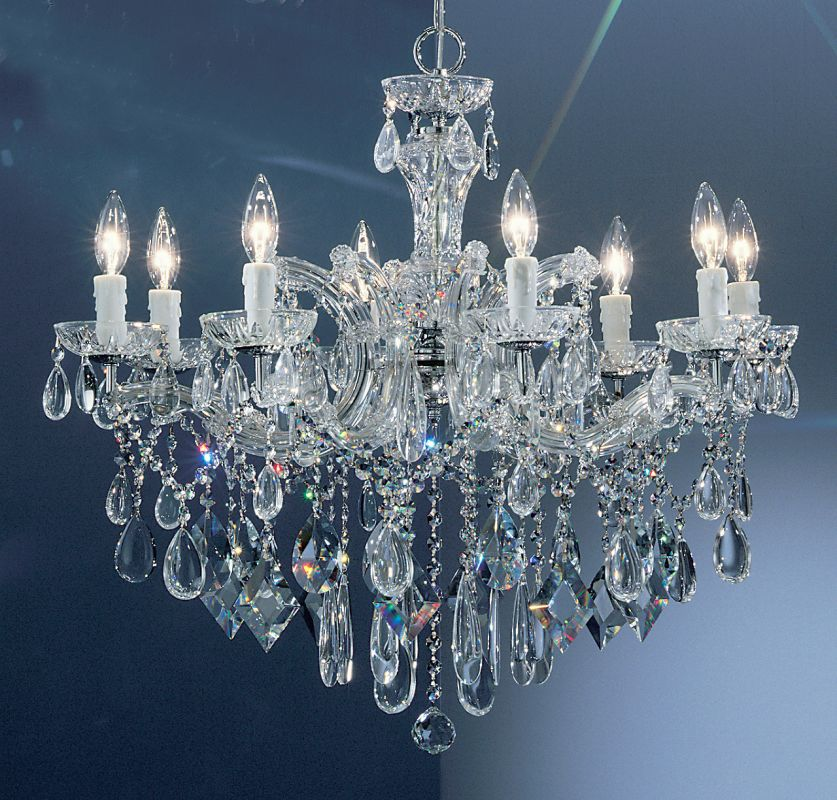 """Classic Lighting 8358-CH 25"""" Crystal Chandelier from the Rialto"""