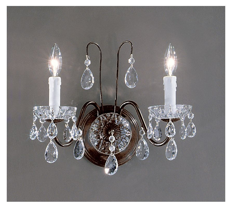 "Classic Lighting 8372-EB 12"" Crystal Wallchiere from the Daniele"