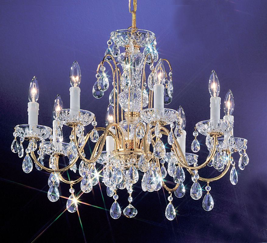 "Classic Lighting 8378-GP 20"" Crystal Chandelier from the Daniele"