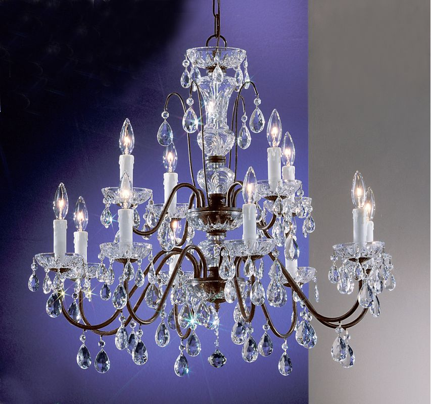 "Classic Lighting 8379-EB 25"" Crystal Chandelier from the Daniele"