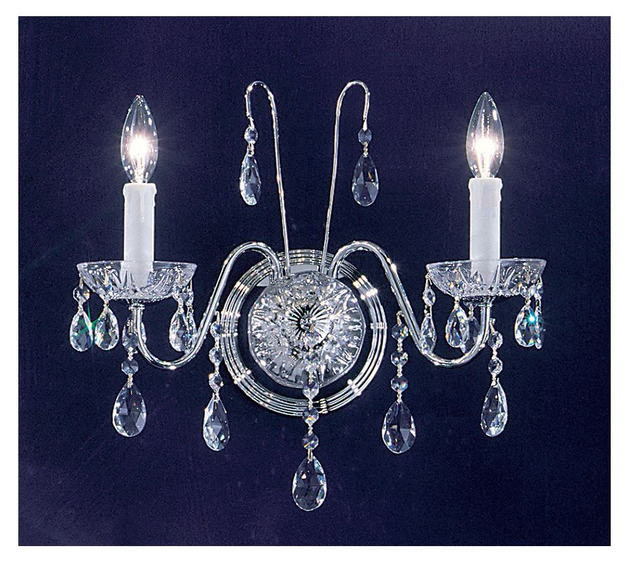 "Classic Lighting 8382-CH 15"" Crystal Wallchiere from the Daniele"