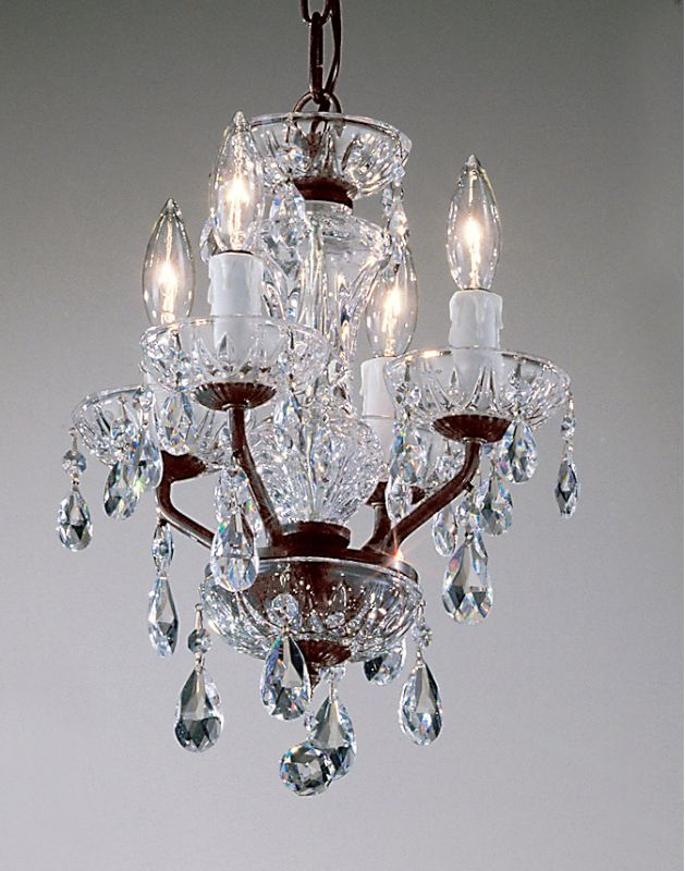 "Classic Lighting 8384-EB 15"" Crystal Mini-Chandelier from the Daniele"