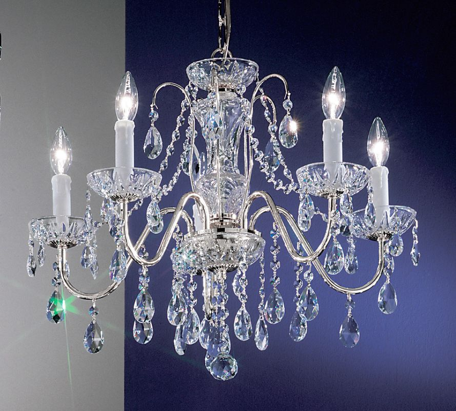 "Classic Lighting 8385-CH 19"" Crystal Chandelier from the Daniele"