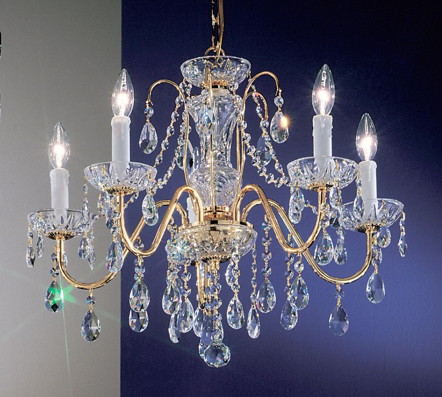 "Classic Lighting 8385-GP 19"" Crystal Chandelier from the Daniele"
