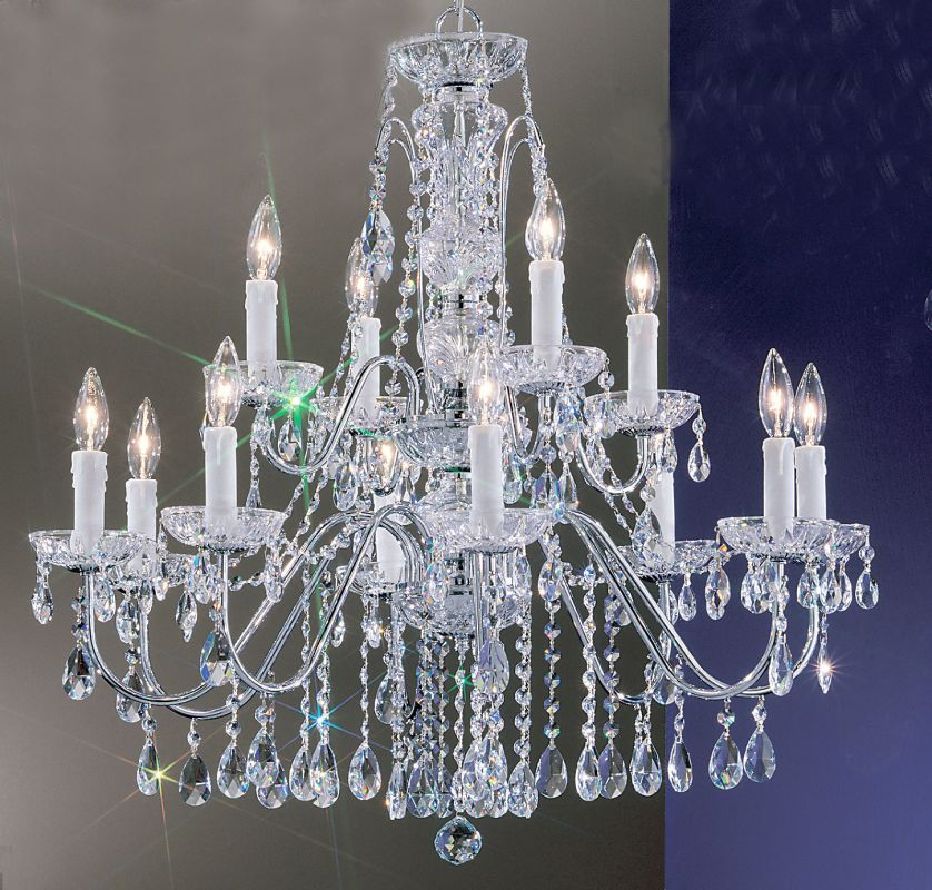 "Classic Lighting 8389-CH 29"" Crystal Chandelier from the Daniele"