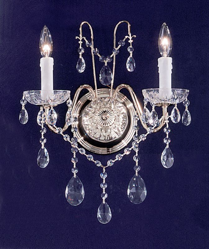 "Classic Lighting 8392-CH 14"" Crystal Wallchiere from the Daniele Sale $163.80 ITEM: bci1300591 ID#:8392 CH C UPC: 729587333539 :"