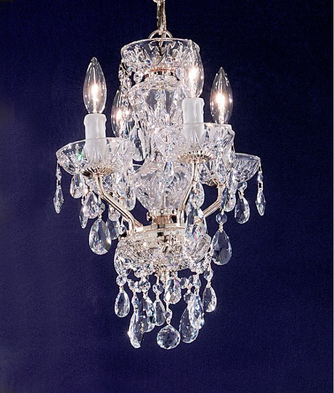 "Classic Lighting 8394-GP 16"" Crystal Mini-Chandelier from the Daniele"