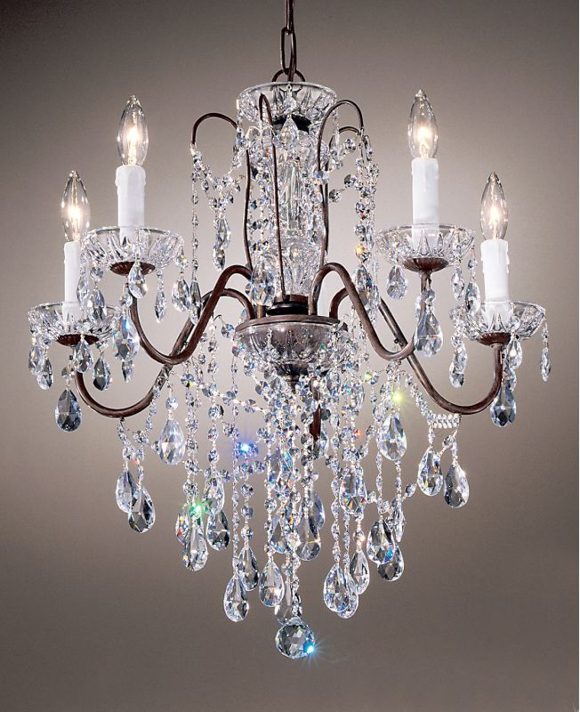 "Classic Lighting 8395-EB 23"" Crystal Chandelier from the Daniele"