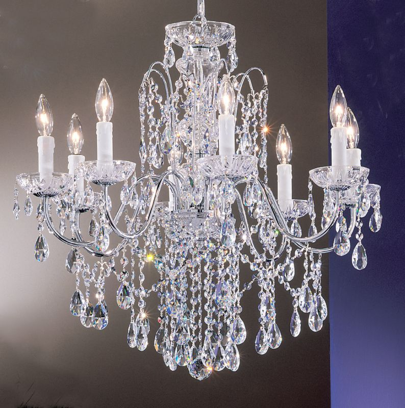 "Classic Lighting 8398-CH 25"" Crystal Chandelier from the Daniele"