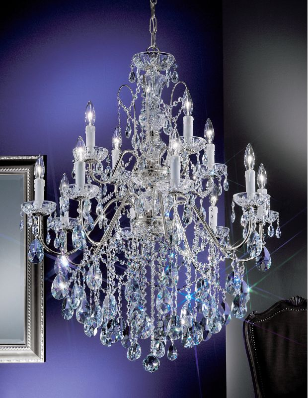 "Classic Lighting 8399-CH 36"" Crystal Chandelier from the Daniele"