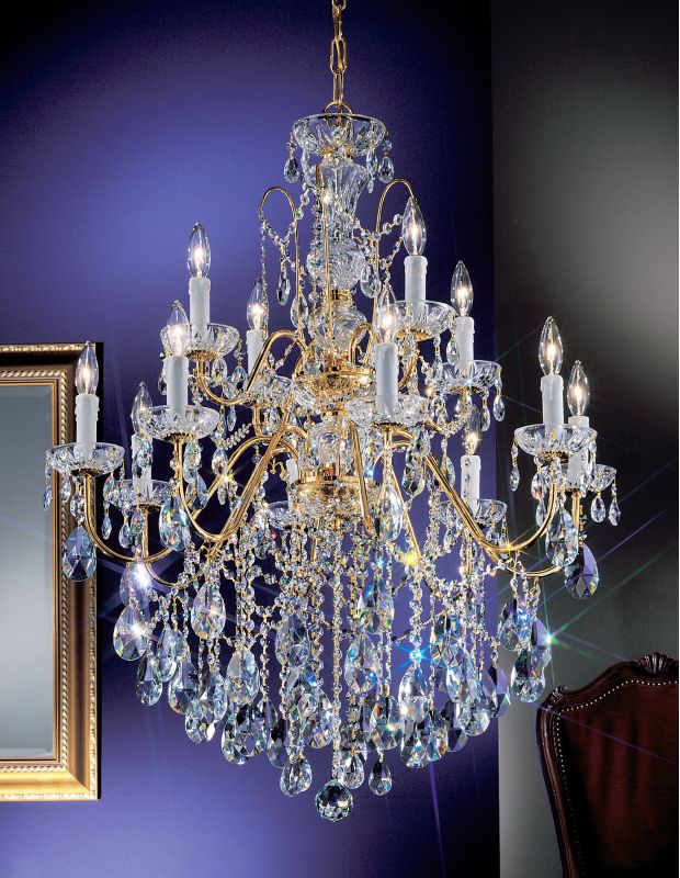 "Classic Lighting 8399-GP 36"" Crystal Chandelier from the Daniele"