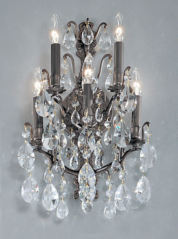 "Classic Lighting 9002-AB 20"" Crystal Wallchiere from the Versailles"