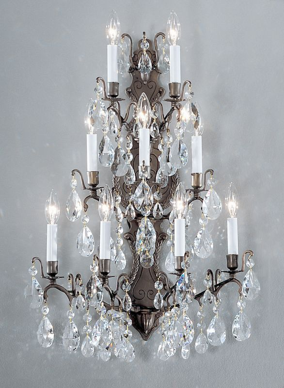 "Classic Lighting 9003-AB 29"" Crystal Wallchiere from the Versailles"
