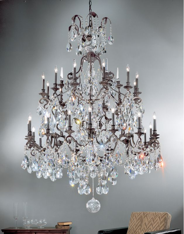"""Classic Lighting 9030-AB 71"""" Crystal Chandelier from the Versailles"""