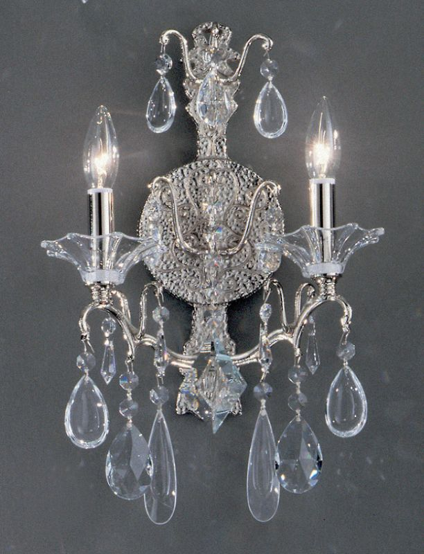 """Classic Lighting 9052-CH 17"""" Crystal Wallchiere from the Garden of"""