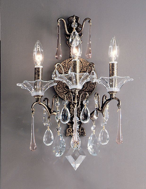 "Classic Lighting 9053-ABG 18"" Crystal Wallchiere from the Garden of"