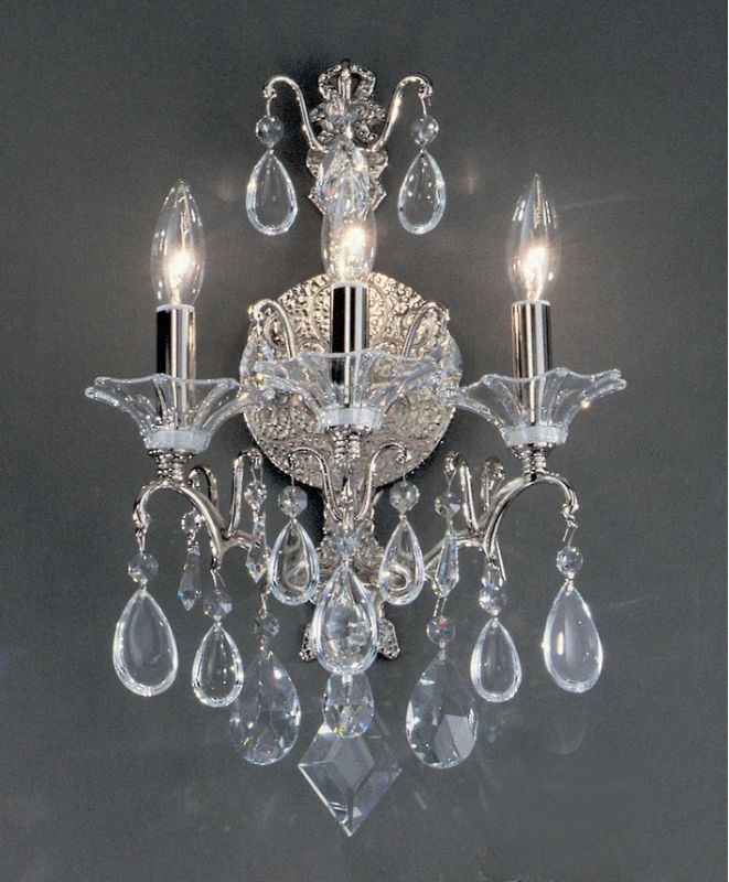 "Classic Lighting 9053-CH 18"" Crystal Wallchiere from the Garden of"