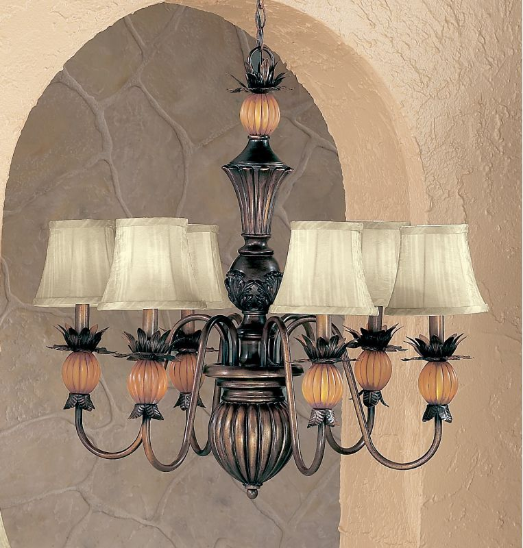 "Classic Lighting 92306 28"" Wrought Iron Chandelier from the Topaz"