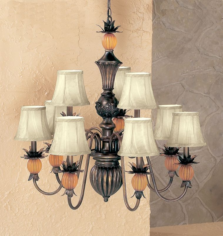 "Classic Lighting 92309 29"" Wrought Iron Chandelier from the Topaz"