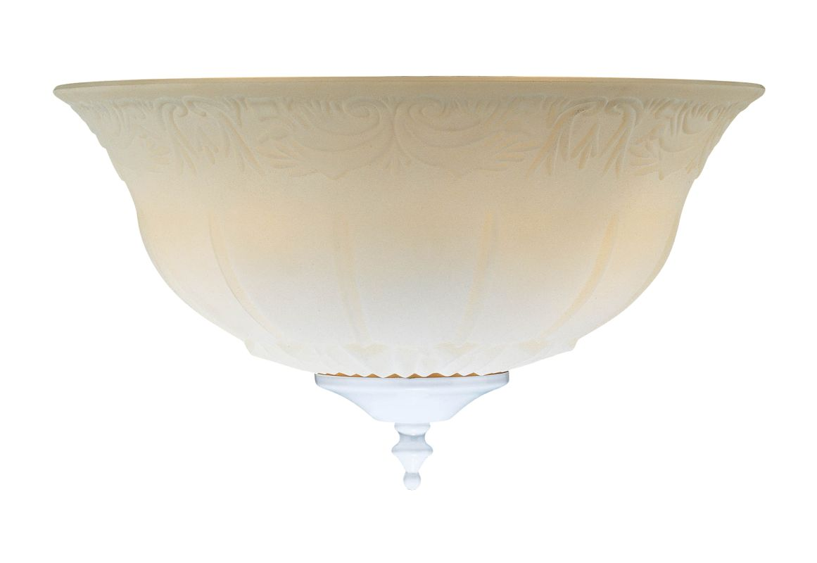 "Concord G-1201 12"" Bowl Glass Shade Etched White Ceiling Fan"