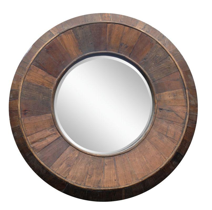 """Cooper Classics 40025 Andrea 31.5"""" X 31.5"""" Round Wall Mirror Natural"""