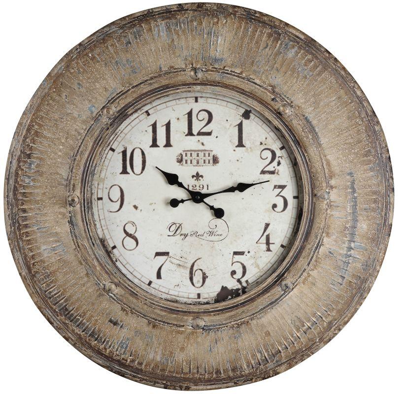 """Cooper Classics 40035 Kensington 29.5"""" X 29.5"""" Wall Clock Distressed"""