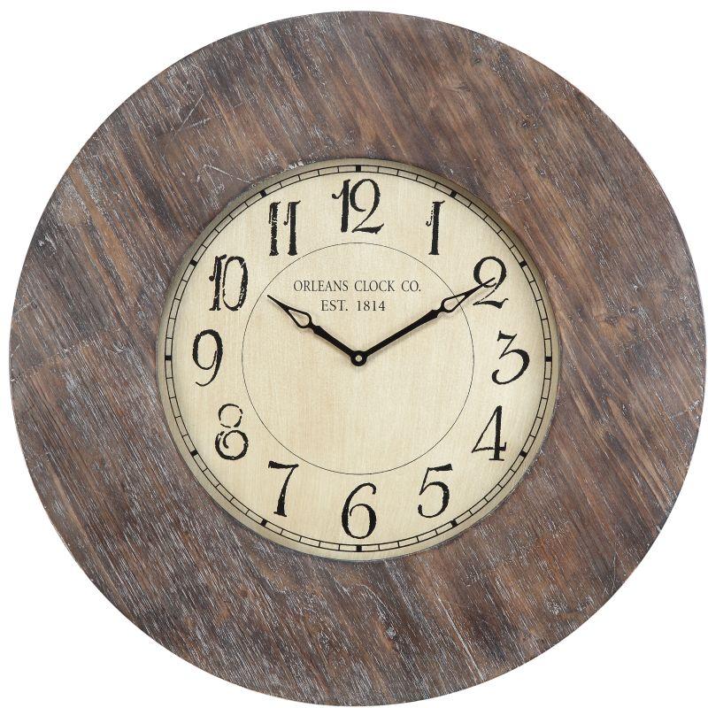 """Cooper Classics 40036 Williston 29.5"""" X 29.5"""" Wall Clock Aged Wood"""
