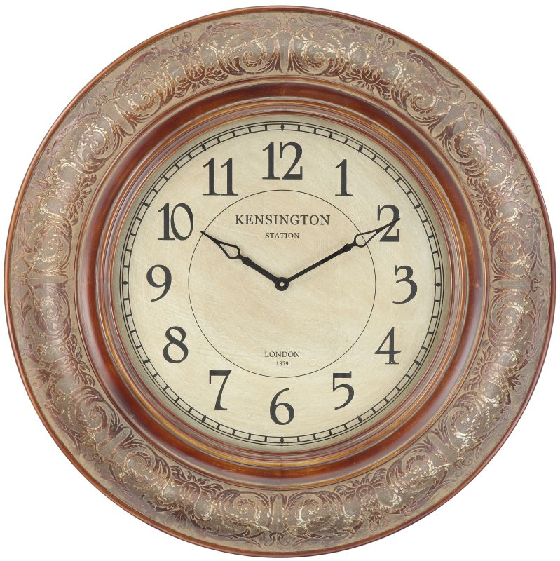 "Cooper Classics 40040 Mackenzie 37"" X 37"" Wall Clock Aged Copper Home"