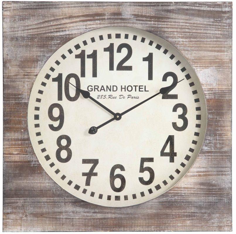 "Cooper Classics 40116 Augusta 27"" X 27"" Wall Clock Distressed White"