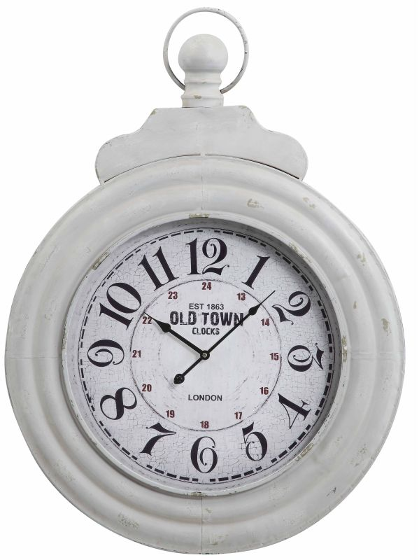 "Cooper Classics 40117 Dillon 34"" X 26"" Wall Clock Distressed Cream"