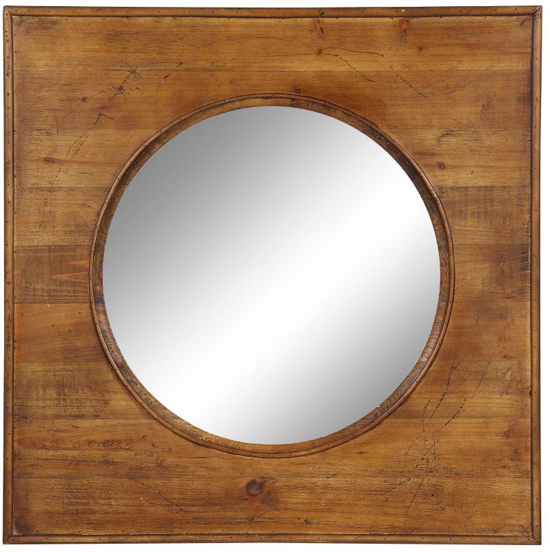 """Cooper Classics 40127 Thorton 29.5"""" X 29.5"""" Wall Mirror Natural Wood"""