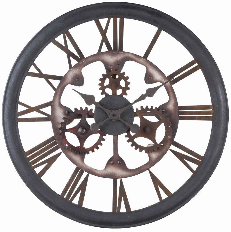 "Cooper Classics 40220 Senna 26"" X 26"" Wall Clock Aged Black Rust Home"