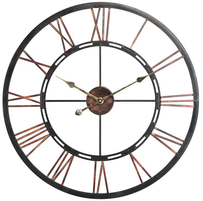 """Cooper Classics 40223 Mallory 27.5"""" X 27.5"""" Wall Clock Aged Copper"""