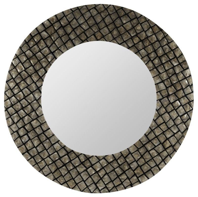 """Cooper Classics 40323 Ava 39.5"""" X 39.5"""" Round Wall Mirror Champagne"""