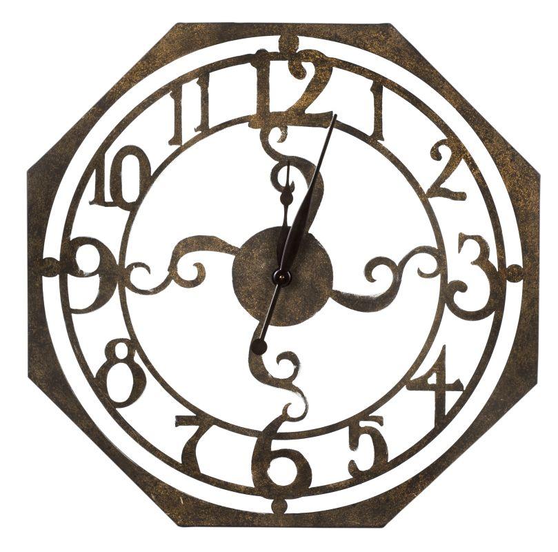 """Cooper Classics 40332 Ruhard 28"""" X 28"""" Wall Clock Rustic Bronze Home"""