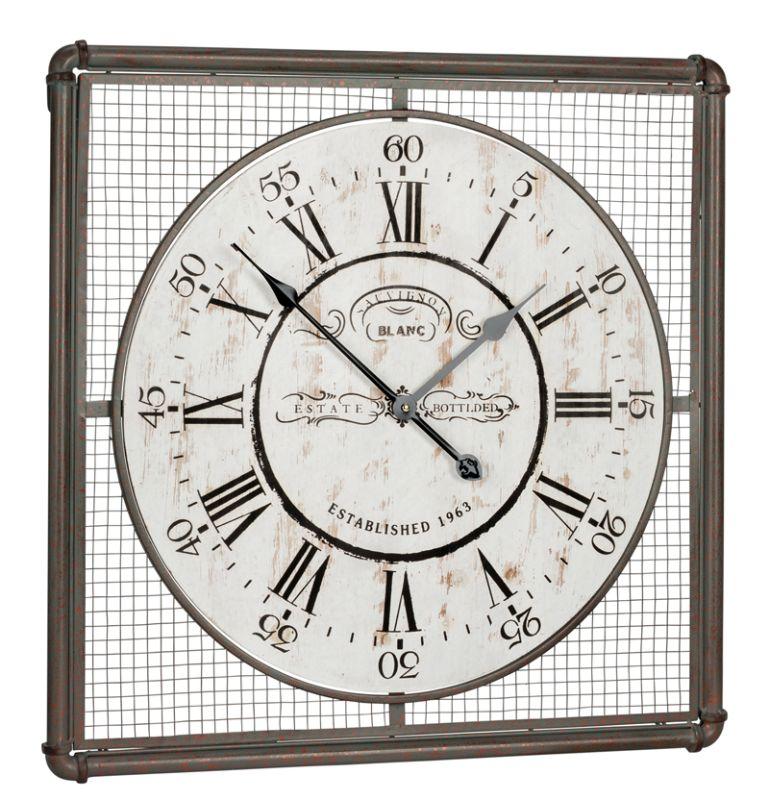 "Cooper Classics 40348 Bartow 26"" X 26"" Wall Clock Distressed Cream"