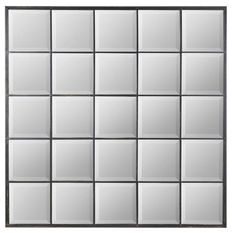 """Cooper Classics 40369 Hubbard 44.5"""" X 44.5"""" Wall Mirror Distressed"""